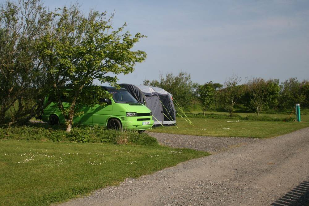 Many of our 260 camping and caravan pitches are now separated by fences or shrubbery
