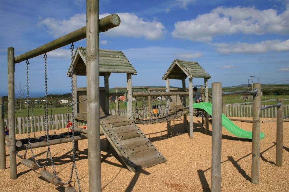 A child friendly camp sites with play area on site to keep the kids amused
