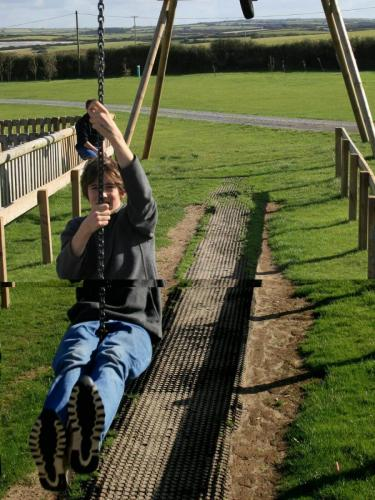 Zip wire and childrens play park